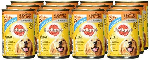 Pedigree Adult Hundefutter 3 Sorten Geflügel, 12 Dosen (12 x 400 g) - 2