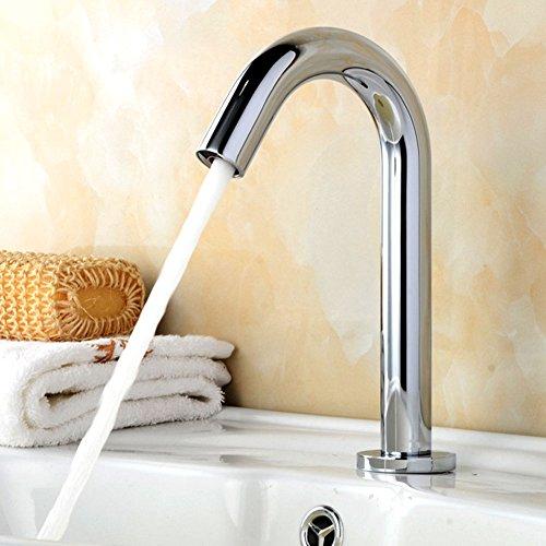 Rubinetto premium in ottone (# 59) con sensore a infrarossi per lavello da cucina con lavandino/con tubo/con scatola di controllo / 35x20x10cm miscelatore rubinetto con sensore acqua calda e fredda