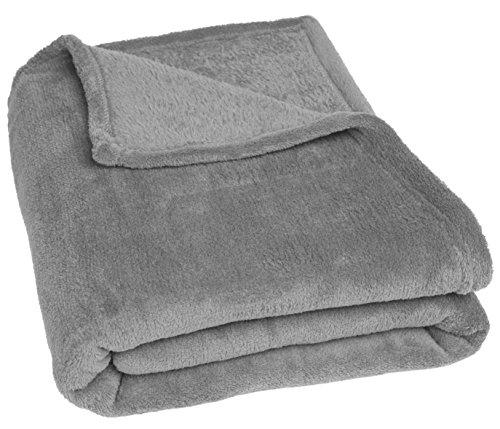 Betz POLAND foro polar manta picnic manta de viaje tamaño 140 x 190 cm color gris antracita