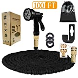 ANSYU 100FT Expanding Garden Water Hose Pipe With 8 function Spray Gun Expandable