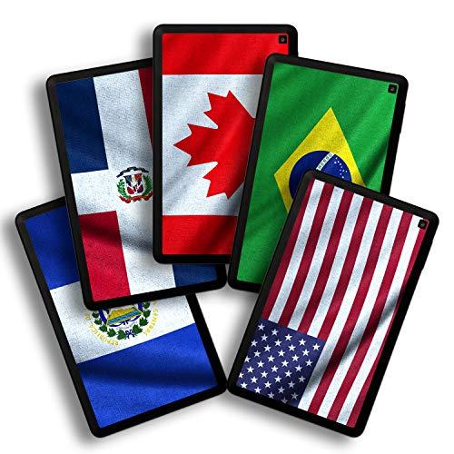 kompatibel mit Amazn F¡re HD 6 Model 2014/2015, Skin Aufkleber (Flaggen aus Amerika) ()