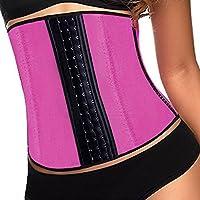 Jambo waist eccellente compressione Guêpière bustino shapewear corpo Shaper rosa (XL)