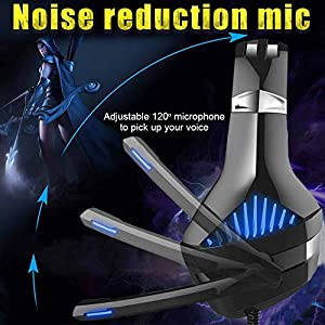 Dreamerd Gaming Headset for PS4, Nintendo Switch, PC, Xbox One Controller, Comfort Noise Reduction Professional Headphone