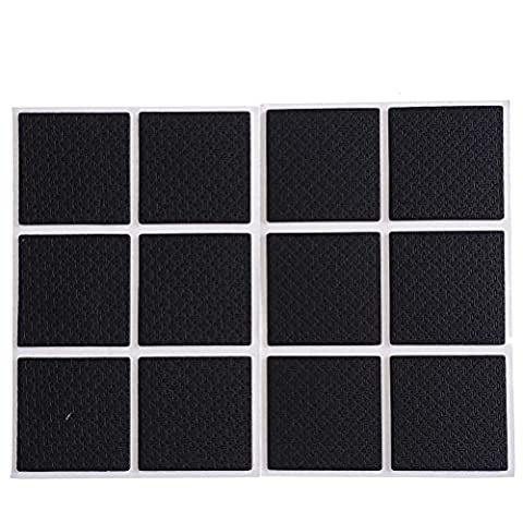 48 Pieces Square Self Adhesive Furniture Felt Pads Furniture Feet Wood Floor Protectors, Protect Your Hardwood & Laminate Flooring,