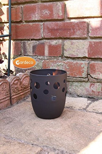Garden Outdoors Or Indoors Cylinder Pot Fire Gel Burner Heater Including One Tin Of Fire Gel