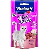 Vitakraft Katzensnacks, Fleischige Häppchen mit Leberwurst, Cat Yums, 28822, 40 g