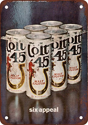 colt-45-malt-liqueur-1971-reproduction-metal-sign-pancarte-en-mtal-vintage