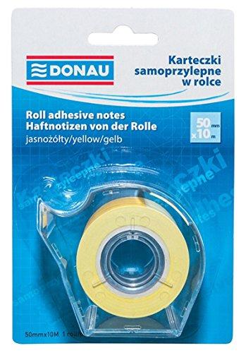 DONAU 7572011PL-99 Haftnotizen-Spender/Haftnotizen-Rolle, 50 mm x 10 m, hellgelb