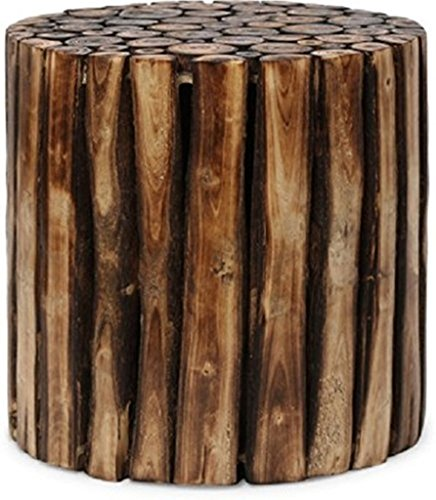 Nisar Handicrafts Wooden Antique Living Room Coffee Table, Stool Round Shape  available at amazon for Rs.1699