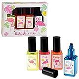 dotcomgiftshop 26685 Textmarker Flamingo als Nagellack designt