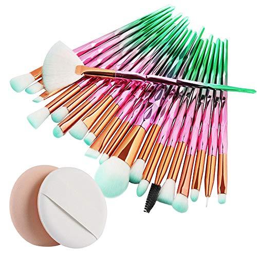 IFOUNDYOU Make Up Pinsel Set 20Pcs Professionelles Mattrosegoldenes Schminkpinsel Kosmetikpinsel...