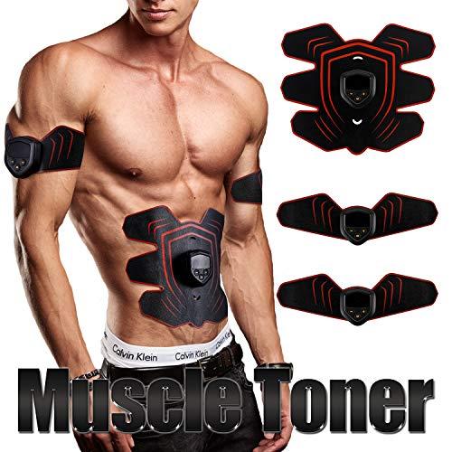 Nieoqar Electroestimulador Muscular Abdominales Entrenamiento Muscular Máquina stimulación muscular eléctrica EMS Estimulador Muscular y quemagrasas máquina de entrenamiento de fitness casa(Carga USB)