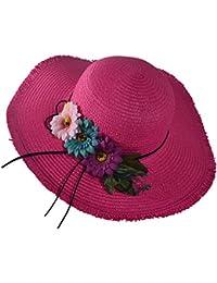 TININNA Donne Outdoor Pieghevole Protezione Solare Traspirante Cappello da Sole  Cappello da Pescatore Spiaggia Cappello di Paglia da Viaggio… 15571bfc9c92