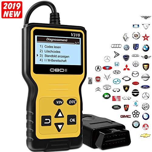 kungfuren OBD2 Diagnosegerät, Universal OBD2 für Autos ab 1996 mit OBD2 EOBD CAN Modi KFZ Motor Fehlercodeleser Lesen und Lschen Fehlercode 16-Pin OBDII-Schnittstelle DTC Handscanner