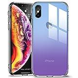 ESR Coque iPhone XS Max Silicone, Coque avec Revêtement Arrière en Verre Trempé,...