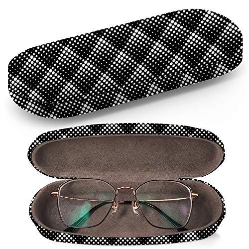 Diagonal Dots (Hardcase Brillenetui Sonnenbrillenetui Brillenbox Kunststof Clamshell-Art-Brillen-Fall mit Brille-Reinigungstuch (Texture Diagonal Dots))