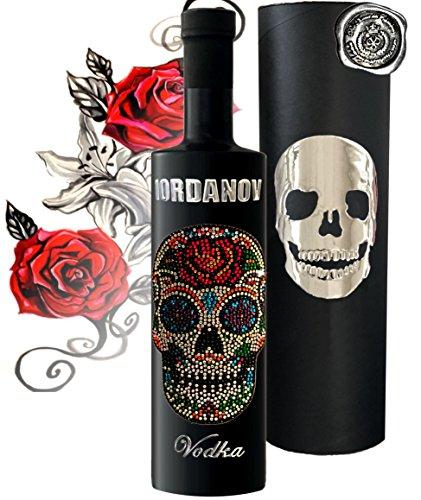 Vodka Geschenk Black Bottle Iordanov Sonderedition Luxus-Wodka