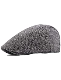 Männer Baumwolle gewaschen Baskenmütze Hut Schnalle einstellbar Newsboy