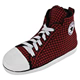 Home Slipper Kinder Jungen schick Sneaker Hausschuhe Turnschuhe Pantoffeln für Innenraum Zuhause mit volle rot Karo Muster