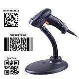 sumeber QR escáner de código de barras con cable de mano 1d 2d USB CCD Lector de código de barras automático para pago móvil pantalla de ordenador escáner OY20 with Stand