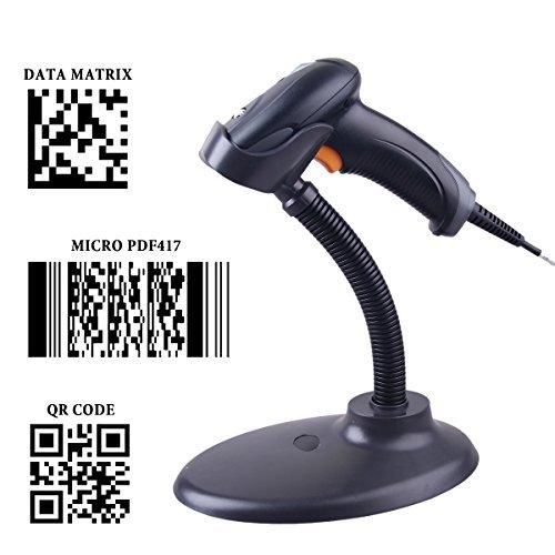 sumeber QR Barcode Scanner Wired Handheld 1D 2D USB CCD Automatische Barcode Reader für mobile Zahlung Computer Bildschirm Scan OY20 with Stand Ccd-stand