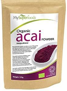 MySuperfoods Bio Acai Beeren-Pulver (125 g) | Höchste Qualität | Antioxidantien & Detox mithilfe der kraftvollen Acai Beere