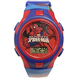 Official Marvel Spider-Man Childrens Digital Wrist Watch in Character Tin 56404