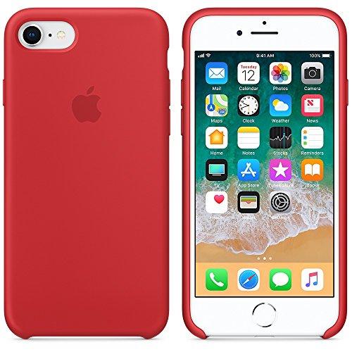 Funda para iPhone 7/8 iPhone 7Plus/8Plus Carcasa Silicona Suave Colores del Caramelo con Superfino Pelusa Forro,Anti-rasguños Teléfono Caso para Apple 7/8 7P/8P (iPhone 7/8, Rojo)