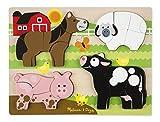 Melissa & Doug Holzpuzzle mit klobigen Teilen - Bauernhoftiere (20 Teile)