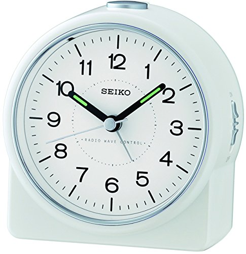 Seiko radio sveglia plastica analog bianco QHR202W