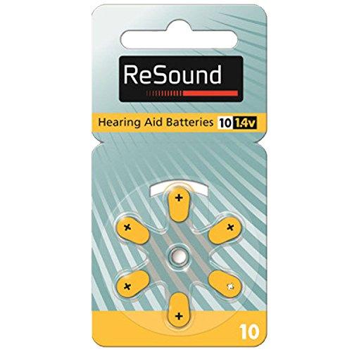 Batterien für Hörgeräte Typ A10 Set mit 6 Stück