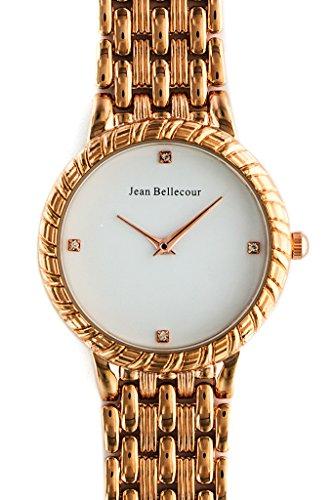 Jean Bellecour Femmes Analogique Quartz Montre avec Bracelet en Acier Inoxydable plaqué REDS21-RGW