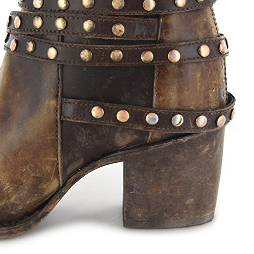 Corral Boots  C2993, Bottes et bottines cowboy femme Marron - Marron