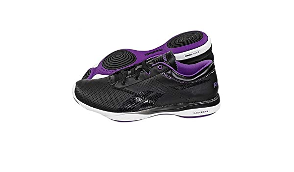 77b132dad9bf Reebok Easytone Pride Womens Leather Trainers   Shoes - Black - SIZE UK 3.5   Amazon.co.uk  Sports   Outdoors