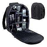 USA Gear Kamerarucksack für DSLR Spiegelreflexkameras (Camera Backpack), Schwarz