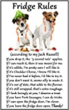 Jack Russell Terrier Gift - Fridge Rules - Large Fun flexible Fridge Magnet- size 16cms x 10 cms (approx. 6 x4) by Fridge Magnets