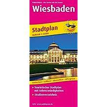 Wiesbaden Stadtplan: Touristischer Stadtplan mit Sehenswürdigkeiten und Straßenverzeichnis. 1:16000 (Stadtplan / SP)