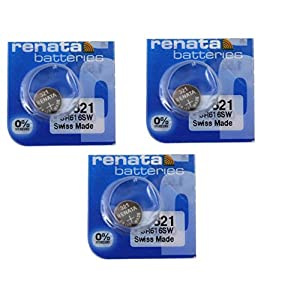 3x Renata 321Quecksilberfrei SR616SW 1,55V Silberoxid Uhrenbatterie