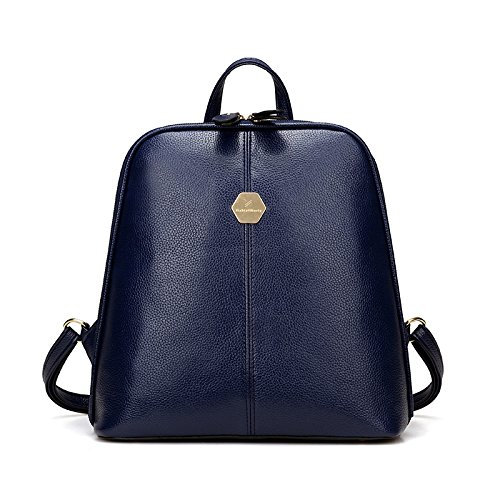 Frau Rucksack Schultertasche college Style pu Soft Leather Fashion wild Nieten Paket blue