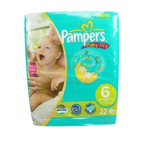 Pampers Baby-Dry Windeln, Größe 6 (XL), 22 Stück