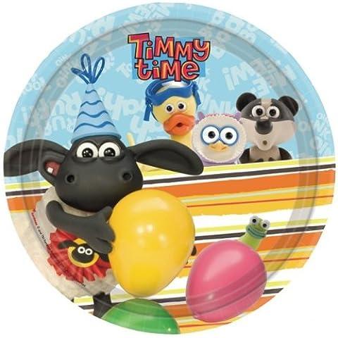 Timmy Time partido placas (paquete de 8)