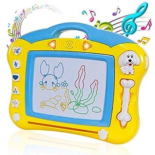 ANTAPRCIS Antiaprcis Magnetisches Zeichenbrett Tragbare Reisegröße, radierbar, Bunte Magna Doodle Schreibblock, Spielzeug für Kinder/Kleinkinder/Babys (Gelb)
