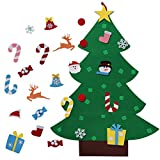 AerWo 3ft Bricolaje árbol de Navidad de Fieltro Con 26 Adornos Desmontables Regalos de Navidad de...