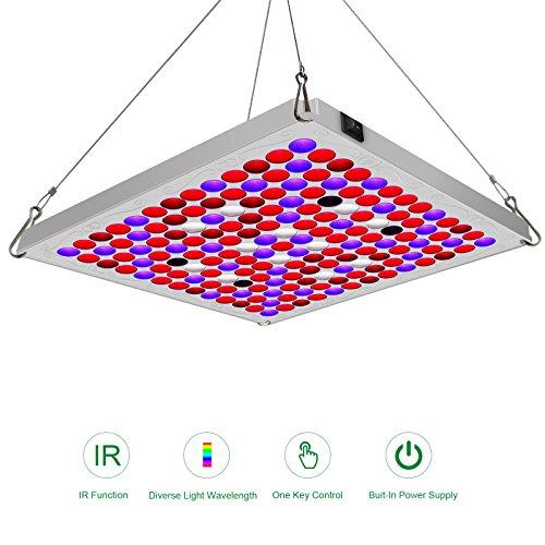 Lampe pour Plante 75W TOPLANET, Mettre à Jour Plante LED Horticole Lampe Croissance avec IR Bleu Rouge Lumière pour Intérieur/Serre/Hydroponique/Grow Box Culture