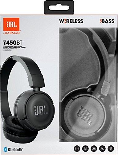 JBL T450BT Kabelloser On-Ear Bluetooth Kopfhörer mit Integrierter Musiksteuerung und Mikrofon Kompatibel mit Apple und Android Geräten -Schwarz - 7