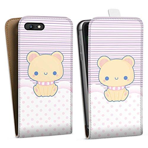 Apple iPhone X Silikon Hülle Case Schutzhülle Kitty Katze Kawaii Downflip Tasche weiß