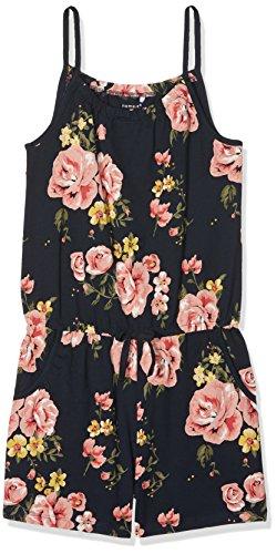 NAME IT Mädchen Overall Nkfvigga Strap Suit K, Mehrfarbig (Dark Sapphire Aop:Flower), 152