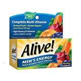 Alive! Men's Energy Multi-vitamin 50 Tabs by Nature's Way (English Manual)