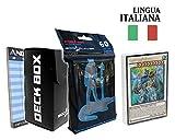Andycards Structure Deck Synchron Estremi - Mazzo Yugioh SDSE in Italiano + 60 Bustine Protettive God-Player Nere + Deck Box Nero + Segnapunti
