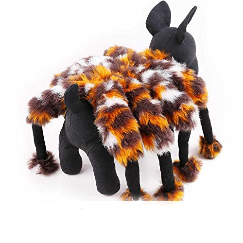 Funny Halloween Spider Hund Kostüm Cosplay Kleidung für kleine Hunde Chihuahua yorksire Pet Katze Hund Puppy Party Kleidung Jacke (Kostüm Spider Hund Halloween)